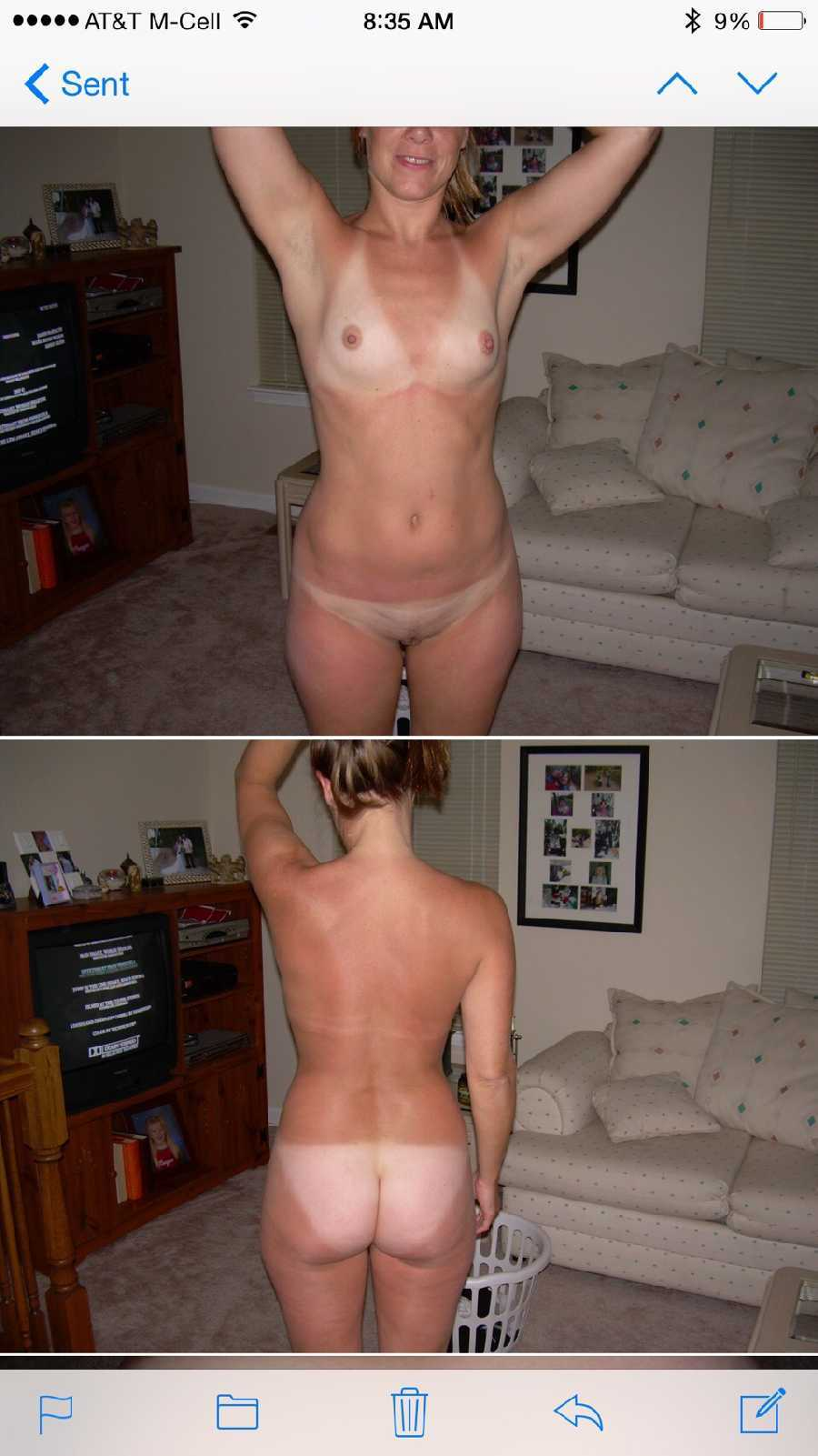 My amateur naked wife
