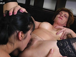 Hd hairy mature lesbians with strap on